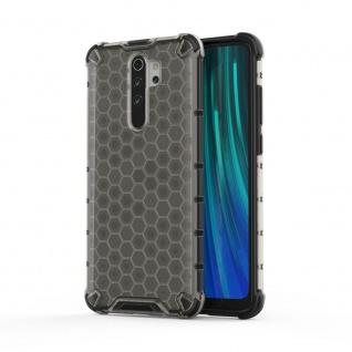 Für Xiaomi Redmi Note 8 Pro Schock Hybrid Silikon TPU Grau Tasche Hülle Etuis