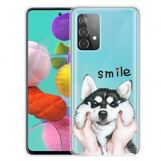 Für Samsung Galaxy A52 Silikon TPU Motiv Dog Handy Tasche Hülle Transparent