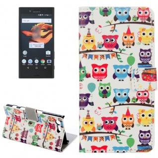 Tasche Wallet Premium Muster 12 für Sony Xperia X Compact F5321 Bookcover Hülle