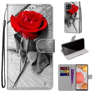 Für Samsung Galaxy A42 5G A426B Kunst-Leder Handy Tasche Motiv 8 Hülle Case Etui