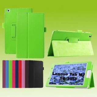 Für Lenovo Tab M7 TB-7305F Grün Kunst-Leder Hülle Cover Tablet Tasche Etuis Case