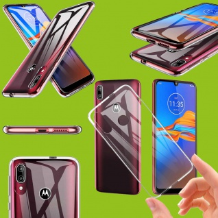 Für Motorola Moto E6 Plus Silikon TPU Transparent Handy Tasche Hülle Etuis Cover
