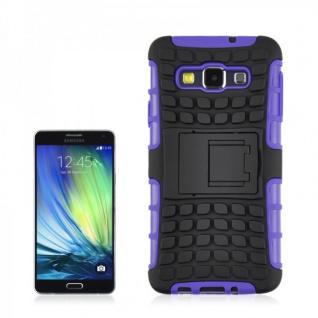 Hybrid Case 2 teilig Robot Lila Cover Hülle für Samsung Galaxy A5 A500 A500F Neu - Vorschau 1