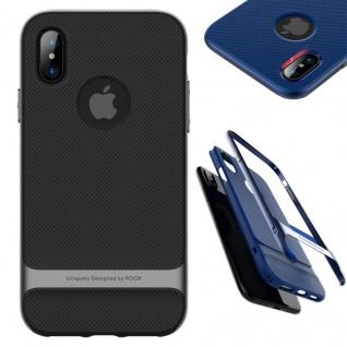 Original ROCK Silikon Case Tasche Schwarz / Grau für Apple iPhone X / XS Hülle