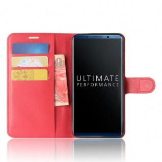 Tasche Wallet Premium Rot für Huawei Mate 10 Pro Hülle Case Cover Etui Schutz - Vorschau 3