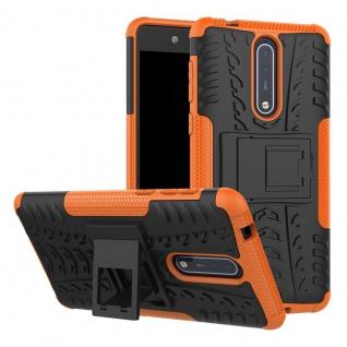 Hybrid Case 2teilig Outdoor Orange Tasche Hülle für Nokia 8 Schutz Etui Cover