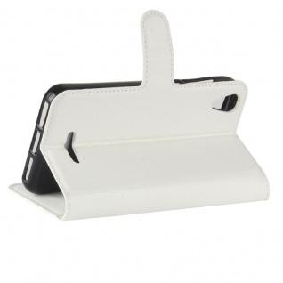 Tasche Wallet Premium Weiß für Wiko Lenny 4 Hülle Case Cover Etui Schutz Neu Top - Vorschau 5