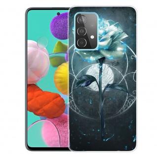 Für Samsung Galaxy A52 Silikon Case TPU Motiv Magic Rose Schutz Hülle Cover