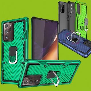 Für Samsung Galaxy Note 20 Ultra Case Metall Armor Dunkelgrün Handy Tasche Etui