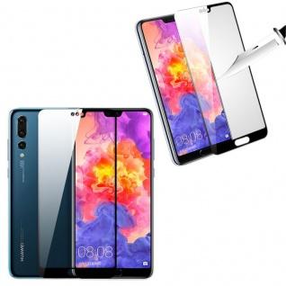 Für Huawei Mate 20 2x 3D Display 0, 3 mm H9 Hart Glas Schwarz Schutz Folie Neu