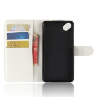 Tasche Wallet Premium Weiß für Wiko Sunny 2 Plus Hülle Case Cover Etui Schutz - Vorschau 4