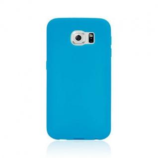 Design Cover mit Frontabdeckung Blau für Samsung Galaxy S6 G920 G920F Tasche Neu - Vorschau 3