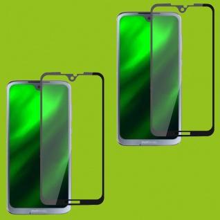Für Motorola Moto G7 / G7 Plus 2x 3D Display 0, 3 mm H9 Hart Glas Schwarz Folie