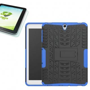 Hybrid Outdoor Tasche Blau für Samsung Galaxy Tab S3 9.7 T820 + 0, 4 Hartglas