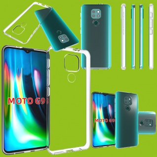 Für Motorola Moto E7 Plus / G9 / G9 Play Silikon TPU Transparent Handy Hülle
