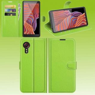Für Samsung Galaxy Xcover 5 Smart Handy Tasche Grün Etuis Kunst-Leder Hülle Case
