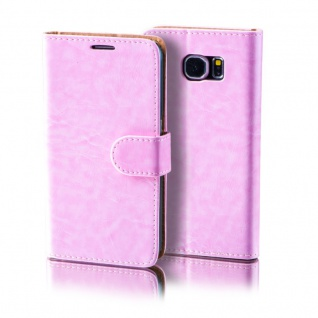 Schutzhülle Rosa für Samsung Galaxy S7 Plus Bookcover Tasche Hülle Case Etui Neu