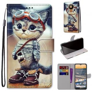 Für Nokia 5.3 Kunst-Leder Handy Tasche Motiv 1 Hülle Case Etuis Cover Schutz Neu
