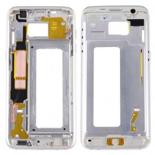 Gehäuse Rahmen Deckel kompatibel Samsung Galaxy S7 Edge G935 G935F Kleber Silber