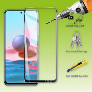 Für Xiaomi Redmi Note 10s 4D Display Full LCD H9 Curved Hart Glas Folie Panzer