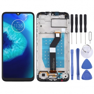 Für Motorola Moto G8 Power Lite Display Full LCD + Rahmen Touch Ersatz Schwarz