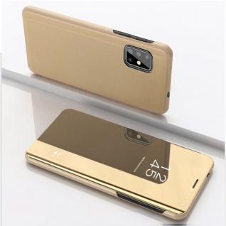 Für Samsung Galaxy M51 M515F View Smart Cover Gold Handy Tasche Etuis Wake UP