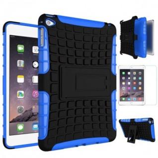 Hybrid Outdoor Schutzhülle Blau für iPad Mini 4 Tasche + 0.3 H9 Panzerglas Case