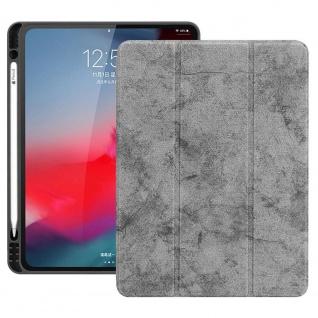 Smartcover Grau für Apple iPad Pro 11.0 Zoll 2018 Tasche Hülle Pen Case Zubehör