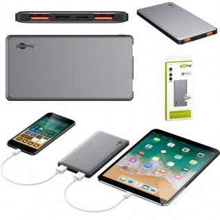 QC 3.0 + USB C Zusatzakku Powerbank Notfall Akku Ladestation Ladegerät 15000 mAh