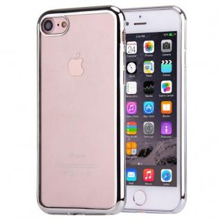 Premium TPU Schutzhülle Silber für Apple iPhone 7 4.7 Tasche Backcover Silikon