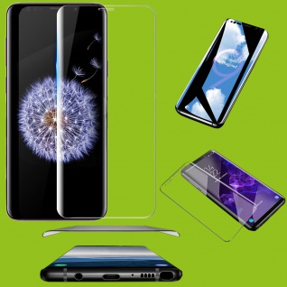 2x 4D Full H9 Curved Hartglas Transparent Folie für Samsung Galaxy S10 G973F 6.1