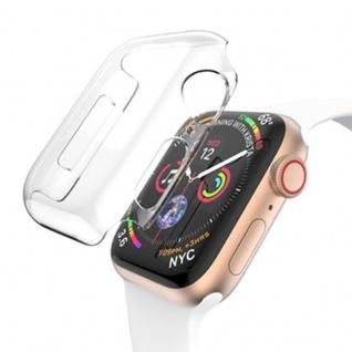 Silikon Hülle Tasche Transparent für Apple Watch 4.Gen 40 mm dünn Case Cover Neu