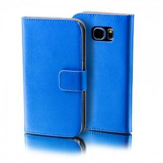 Schutzhülle Blau für Huawei Y6 Bookcover Tasche Hülle Wallet Case Flip Etui Neu