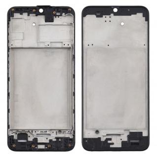 Front Housing Samsung Galaxy M31 Schwarz LCD Rahmen Gehäuse Zubehör Ersatzteil