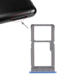 Sim Card Tray für Xiaomi Redmi Note 6 Pro Karten Halter Holder Ersatzteil Blau
