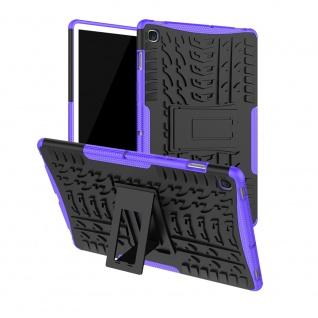 Für Samsung Galaxy Tab S5e 10.5 T720F Outdoor Hybrid Lila Tasche Etuis Hülle Neu