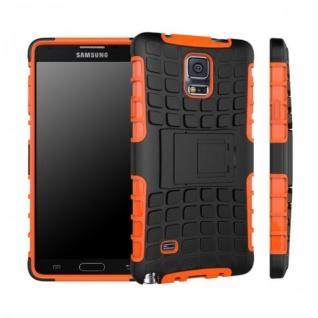 Hybrid Case 2 teilig Robot Orange für Samsung Galaxy Note 4 SM-N910 SM-N910F Neu