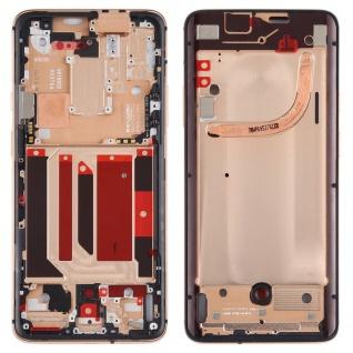 Gehäuse Rahmen Mittelrahmen kompatibel für OnePlus 7 Pro Gold Front Housing