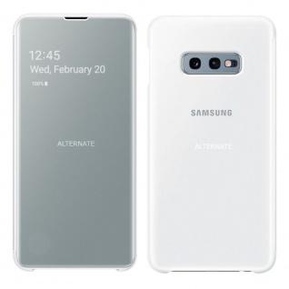 Samsung Flip Tasche Clear View EF-ZG970CWEGWW für Galaxy S10e G970F Cover Weiß