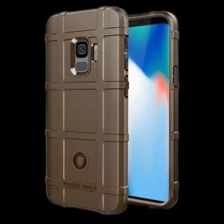 Für Samsung Galaxy S9 Plus G965F Shield Series Outdoor Braun Tasche Hülle Cover