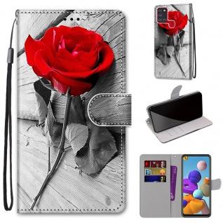 Für Samsung Galaxy A21s Kunstleder Handy Tasche Book Motiv 37 Hülle Case Etuis