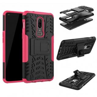Für OnePlus 6 Six Hybrid Case 2teilig Outdoor Pink Etui Tasche Hülle Cover Neu