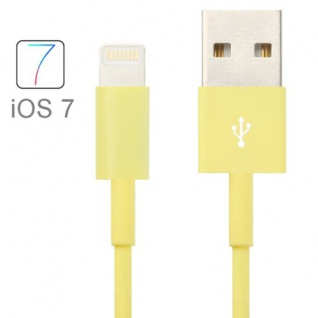 USB Datenkabel Gelb IOS 7 / 8 für Apple iPhone 5 5S 5C iPad 4 Air Mini Retina Neu