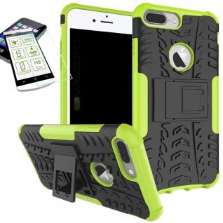 Hybrid Tasche Outdoor 2teilig Grün für Apple iPhone 8 7 Plus 5.5 Hülle + Glas