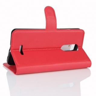 Tasche Wallet Premium Rot für Wiko Upulse Lite Hülle Case Cover Etui Schutz Neu - Vorschau 4