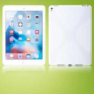 Schutzhülle Silikon X-Line Weiß für Samsung Galaxy Tab S3 9.7 T820 T825 Tasche