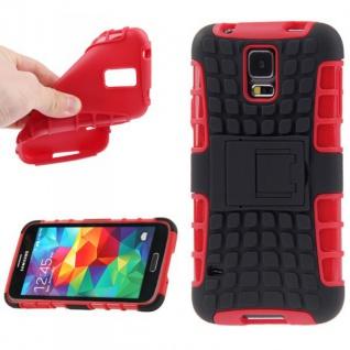 Hybrid Case 2 teilig Robot Rot Cover Hülle für Samsung Galaxy S5 Mini G800 F A H