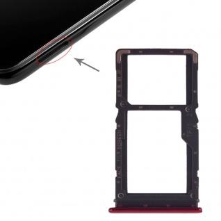 Sim Card Tray für Xiaomi Redmi Note 7 Rot Karten Halter Schlitten Ersatzteil Neu