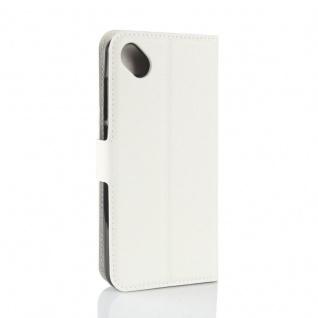 Tasche Wallet Premium Weiß für Wiko Sunny 2 Plus Hülle Case Cover Etui Schutz - Vorschau 3