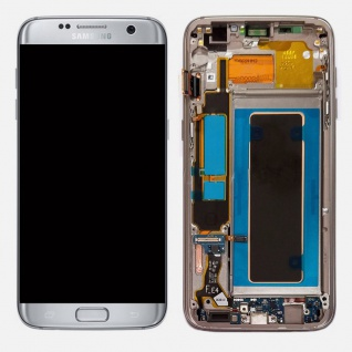 Display LCD Komplettset GH97-18533B Silber für Samsung Galaxy S7 Edge G935F Neu